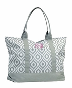 Personalized Ikat Tote Bag | Embroidered