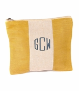 Personalized Jute Cosmetic Bag | Monogram