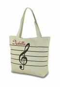Personalized Music Note Tote Bag