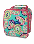 Personalized Paisley Lunch Tote Bag | Monogram