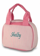 Personalized Pin Stripe Lunch Tote | Embroidered