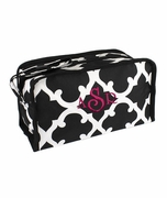 Personalized Quatrefoil Pattern Makeup Bags