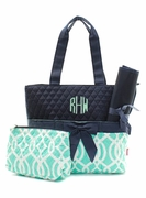 Personalized Quilted Diaper Bag