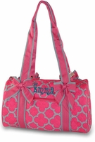 Personalized Quilted Duffle Bag Quatrefoil