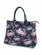 Personalized Quilted Tote Bag - Crab