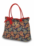 Personalized Quilted Tote Bag - Paisley