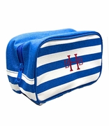 Personalized Stripe Cosmetic Bags - 5 Colors