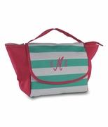 Personalized Stripe Lunch Tote | Embroidered