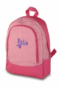 Pin stripe Preschool Backpack | Embroidered | Personalized