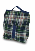 Plaid Insulated Lunch Tote