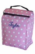 Polka Dot Lunch Tote Embroidered
