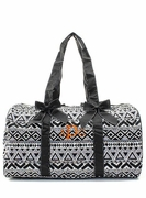 Quilted Aztec Duffle Bag | Monogrammed