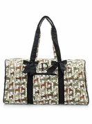Quilted Cat Duffle Bag
