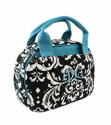 Quilted Lunch Bag | Damask pattern
