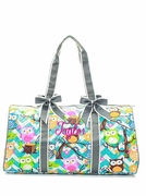Quilted Owl Duffle Bag - Personalized