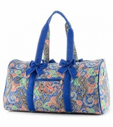 Quilted Paisley Duffle Bag | Monogram | Personalized