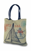 Personalized Sailboat Tote Bag | Embroidered