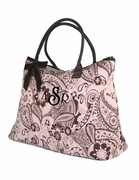 Shoulder Tote Bag with Monogram