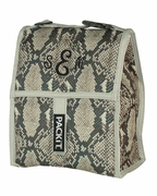 Snake Print Lunch Tote