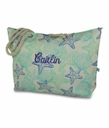 Starfish Seashell Beach Tote | Personalized