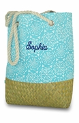 Straw Beach Tote | Personalized
