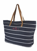 Stripe Summer Tote Bag | Monogrammed