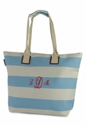 Striped Beach Tote | Embroidered