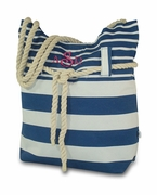 Striped Summer Shoulder Tote | Monogrammed