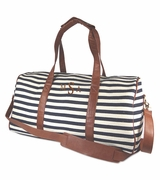 Striped Weekend Duffel Bag | Personalized