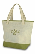 Stylish Jute Tote Bag | Monogrammed Personalized