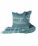 Turkish Towel with Beach Tote | Monogram
