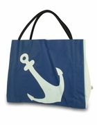 Vinyl Anchor Beach Tote - Nautical Theme