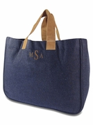 Wool Blend Tote Bag | Monogram