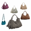 Melie Bianco Miley Chain Trim Tassel hobo bag
