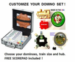 Double 12 DOT Dominoes Aluminum Case -DELUXE