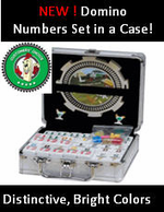 <b>Double 12 Numbered Dominoes  Aluminum Carrying  Case</b> -PROFESSIONAL SIZE