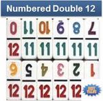 Double 12 NUMBERS Domino Set-TILES ONLY PROFESSIONAL SIZE