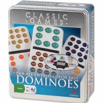 Double 15 Dominoes in Tin -Cardinal -Standard Size