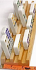 Fundex Wood Domino Trays  (Set of 4) -Fits Standard Dominos