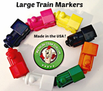 <b> LARGE Domino Train Markers (USA)</b>