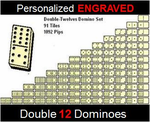 Personalized Double 12 Dominoes- Engraved