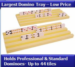 Plastic Domino Trays (Set of  2) -<b> NEW LOW PRICE!</b>
