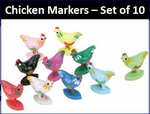 Set of Ten Chicken Markers