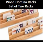 <b>Wood Domino Racks - Set of Two </b>