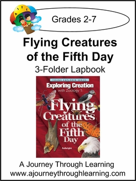 Apologia Zoology 1 Flying Creatures 3 Folder Lapbook- Color