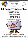 60 Easy To Assemble Lapbook Templates (write-it-in)-8.00