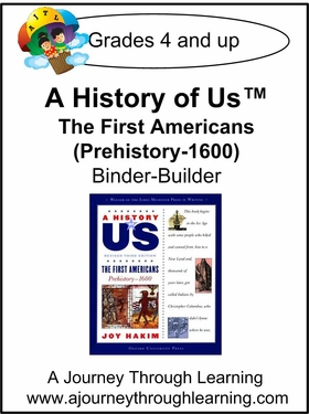 A History of Us Book 1- The First Americans Binder-Builder Lapbook-14.00