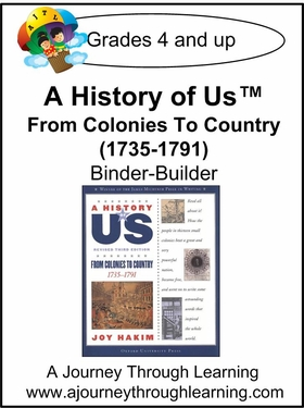 A History of Us Book 3- From Colonies to Country  Binder-Builder Lapbook-14.00