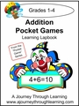 Addition Pocket Games Lapbook-8.00