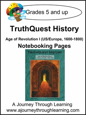 TruthQuest History Age of Revolution 1 Notebooking Pages